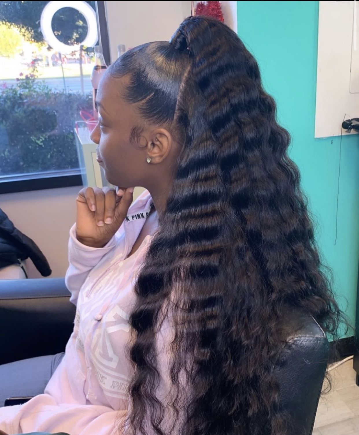 Pin By Dabrat On Protective Styles In 2020 Long Hair Styles Weave Ponytail Hairstyles Natural Hair Styles
