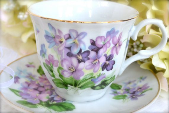 Vintage Fine Bone China Tea Cup and Saucer by LaBellaVintage, etsy