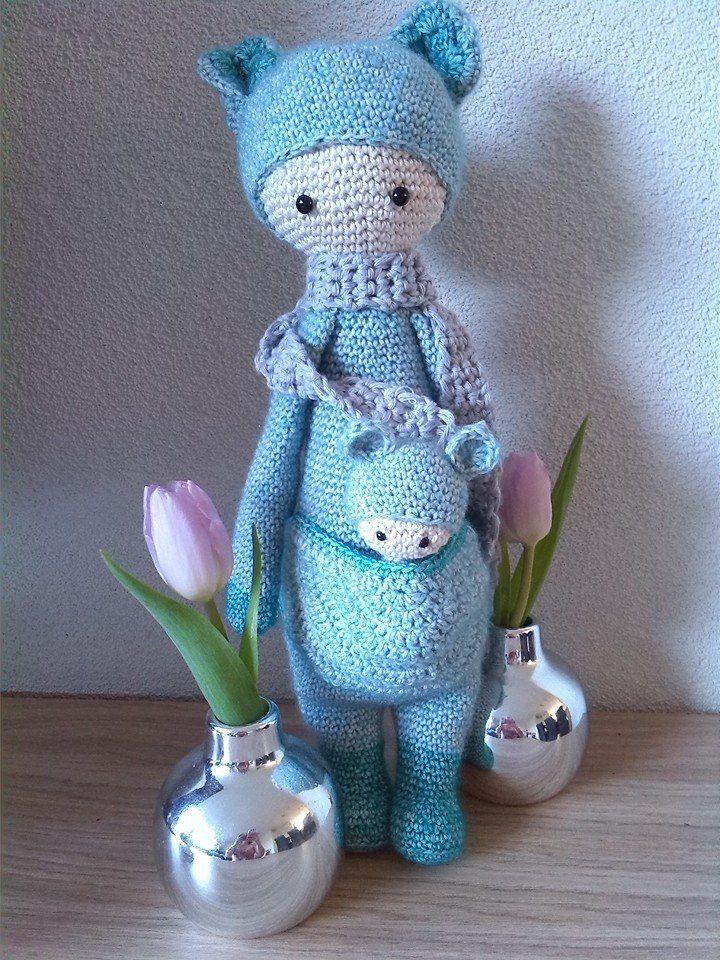Made by Marjolijne D. (Lalylala) Crochet doll, Dinosaur