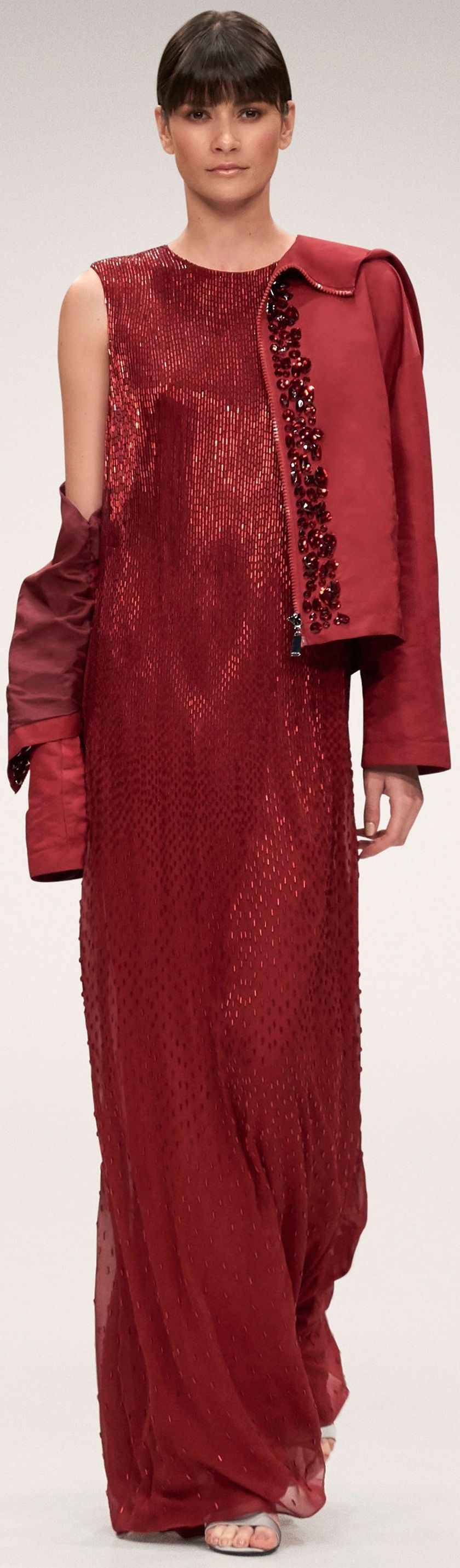 Escada ss u rtw red pinterest gowns haute couture and couture