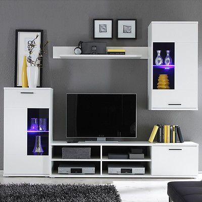 Ebay Angebot Wohnwand Frontal Anbauwand Wohnzimmer In Weiss