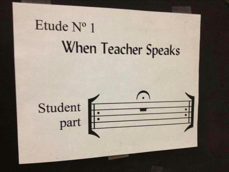 Music Teacher Quiet
