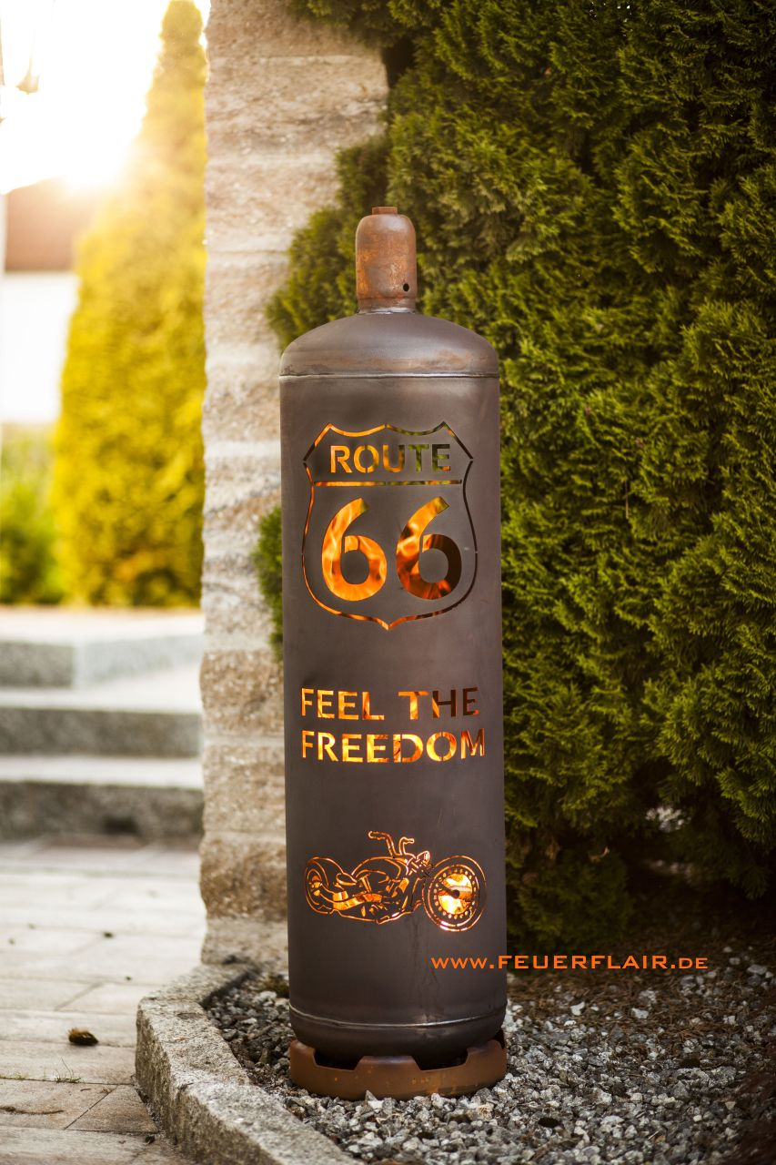 Photo of Fireplace Route 66 gas bottle