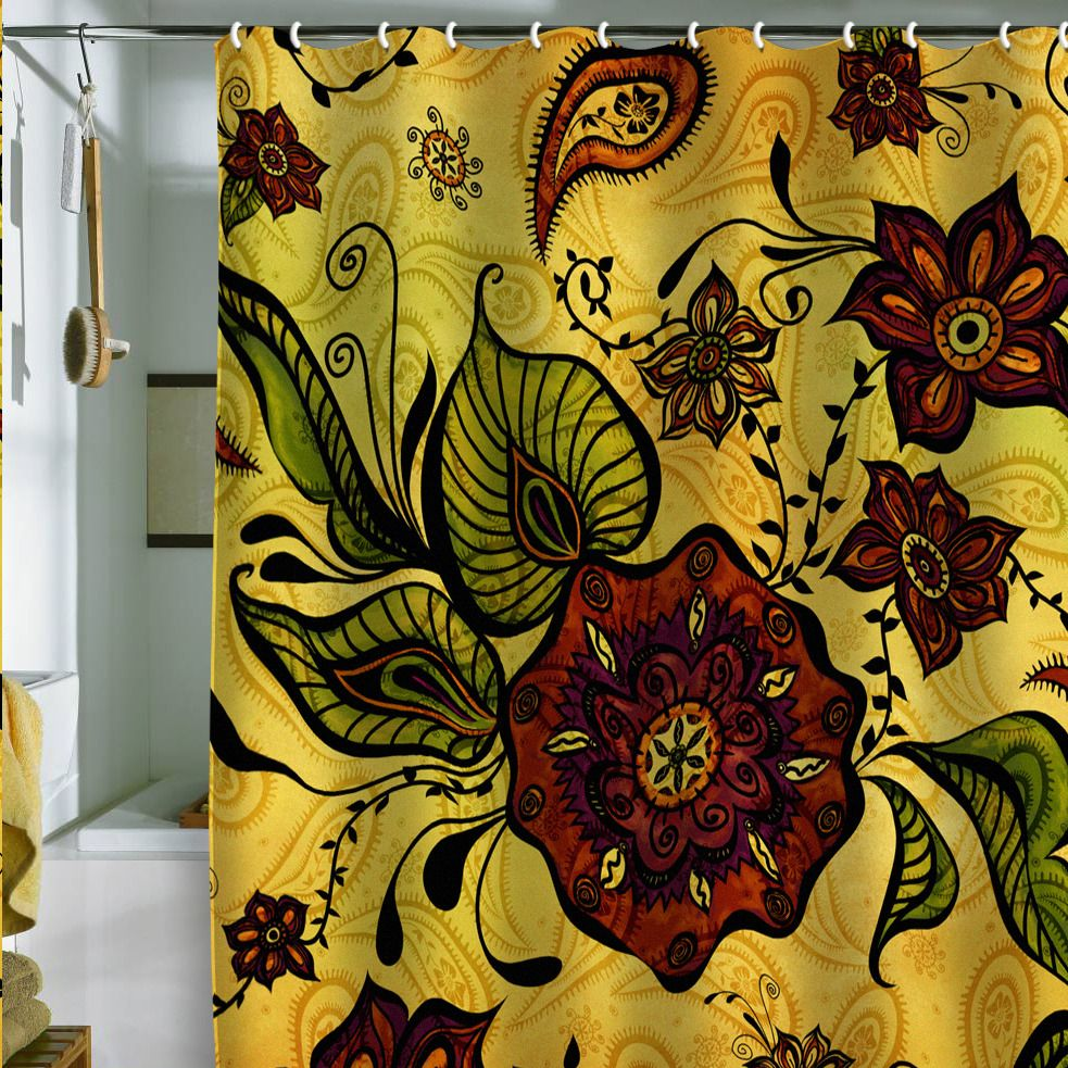 Love This Fun And Funky Shower Curtain Floral Shower Curtains