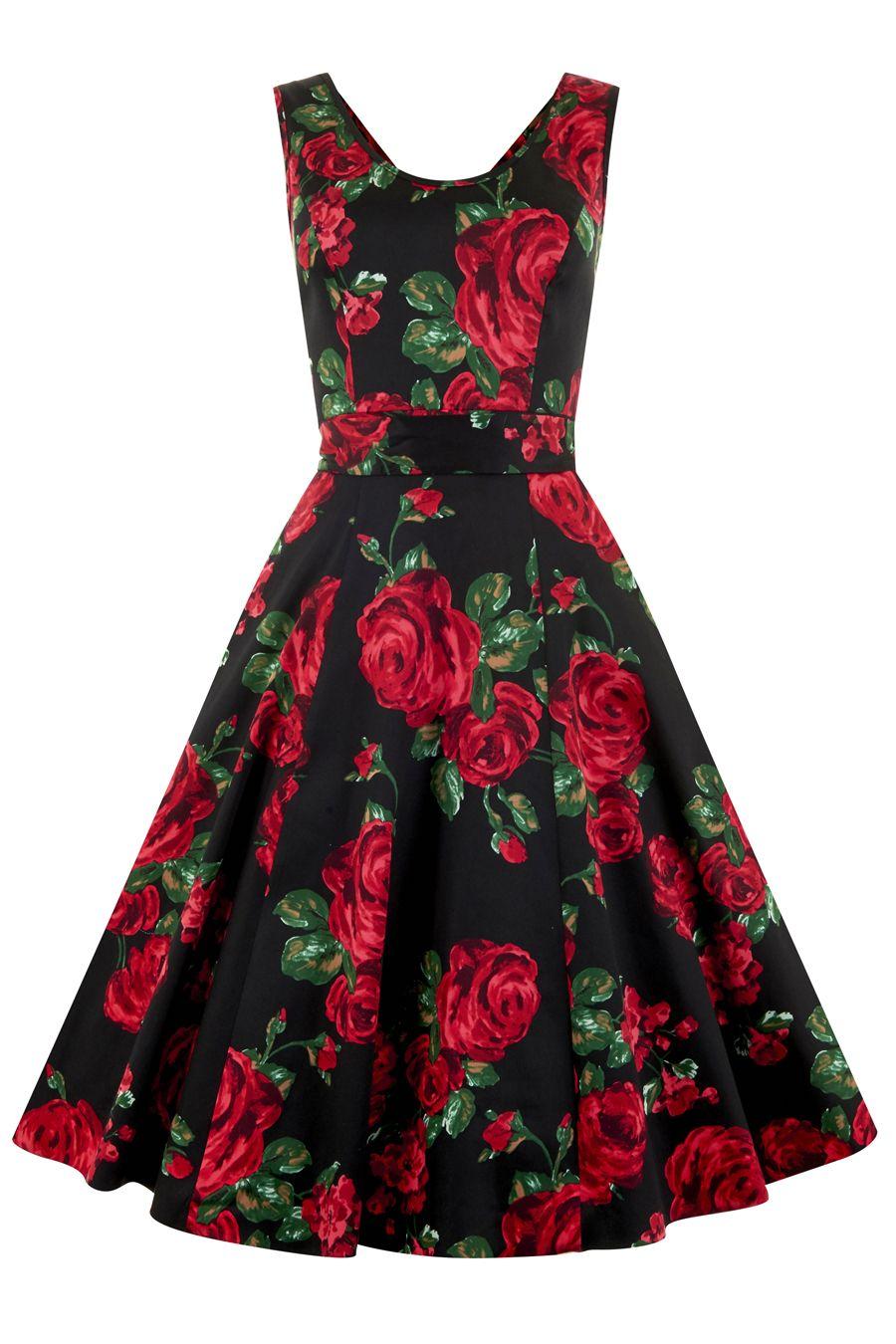 Red Rose Floral Charlotte Dress | Charlotte, Floral and Vintage