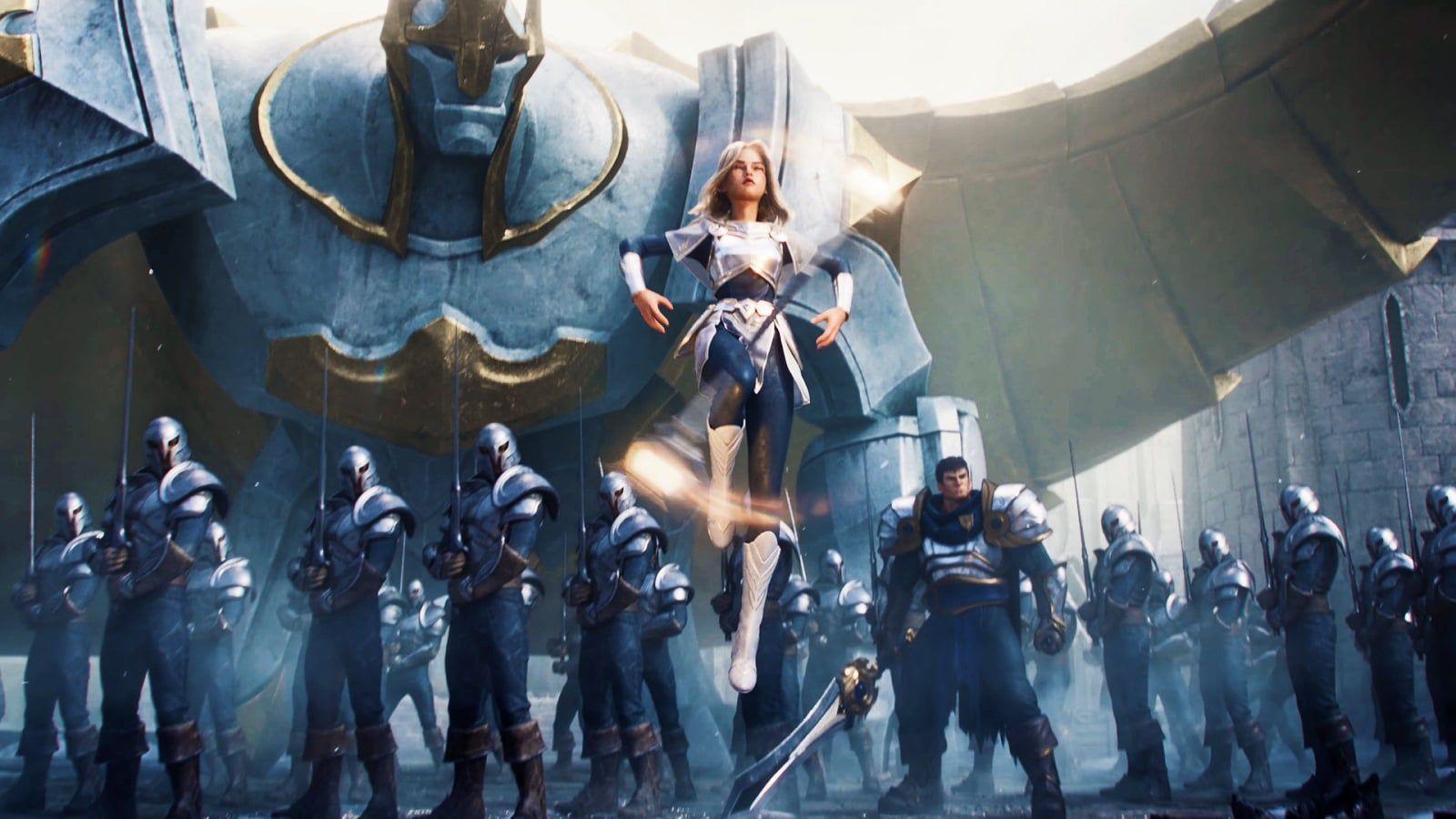 League Of Legends 2020 Warriors Cinematic Wallpapers L2pbomb In 2020 League Of Legends Lol League Of Legends League