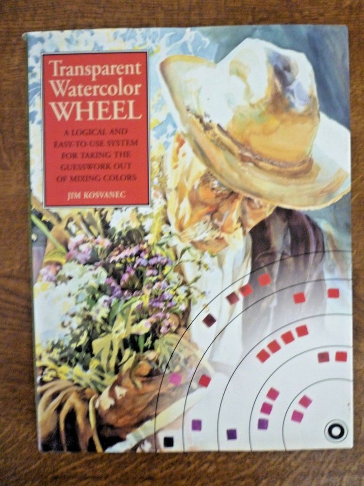 Transparent Watercolor Wheel Art Jim Kosvanec 1994 1st Edition