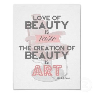 Hair Makeup Quotes Beauty Is Art Retro Quote Stylist Salon Print By Thebeautysaloon Hairstylist Quotes New Hair Quotes Stylist Quotes