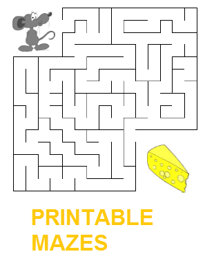 Free printable mazes for kids. Stimulate child's mental
