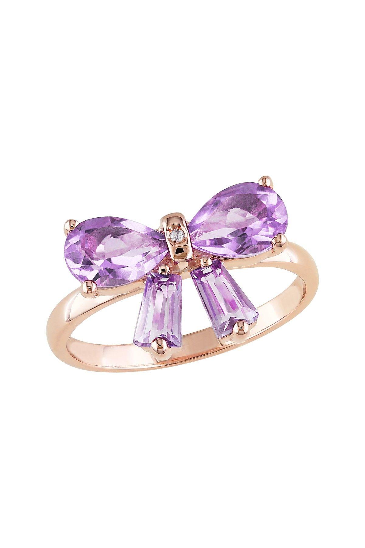 Ring Bow Il Gioiello Personalizzabile Con La Tua Nailart: Amethyst Bow Ring ♥ Perhaps More Than What I'd Choose To