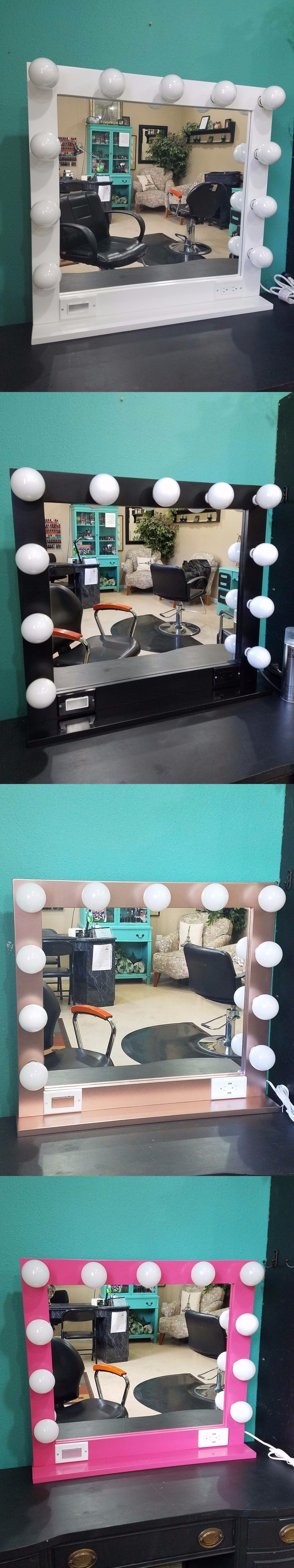Makeup Mirrors: Lighted Hollywood Style Vanity Glamour Make Up ...