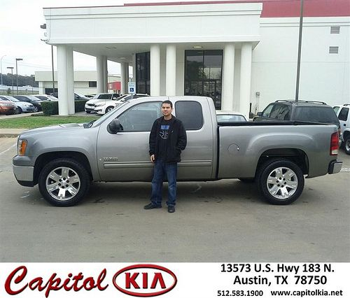 Thank you to Humberto Rivera on your new 2007 #Gmc #Sierra 1500 from Marcus Benitez and everyone at Capitol Kia!