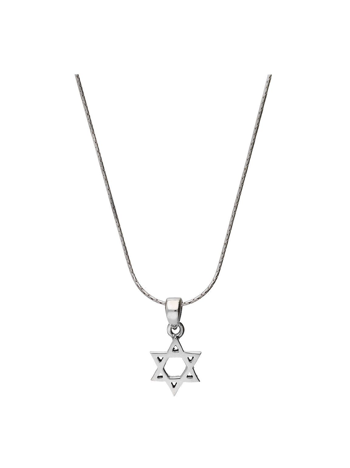 Star sterling silver cut out magen david pendant judaica chain handcrafted 925 sterling silver star of david pendant necklace a beautiful creation featuring a fine aloadofball Image collections