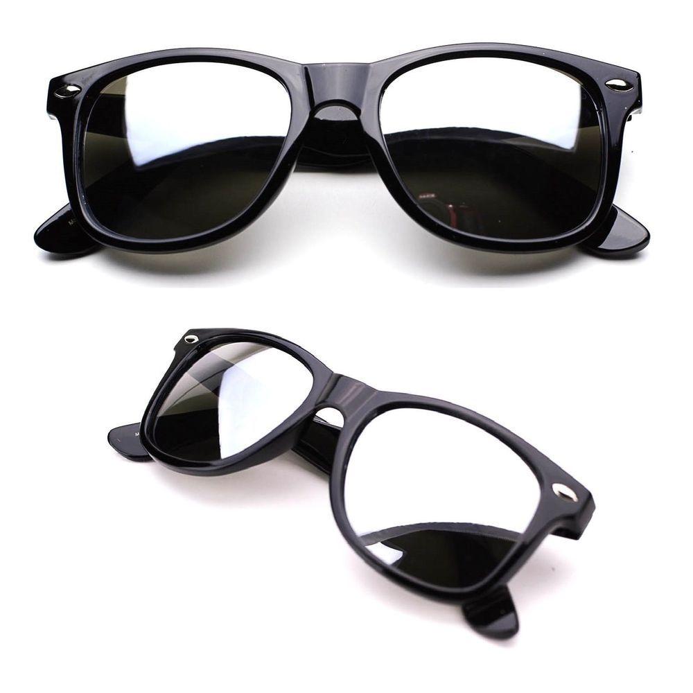 SA106 Temper Glass Lens Oversize Plastic Warp Sport Sunglasses Matte Black