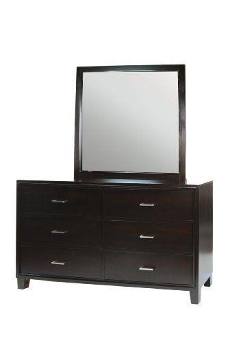 Furniture Of America Sutherlin 6 Drawer Dresser And Mirror Set