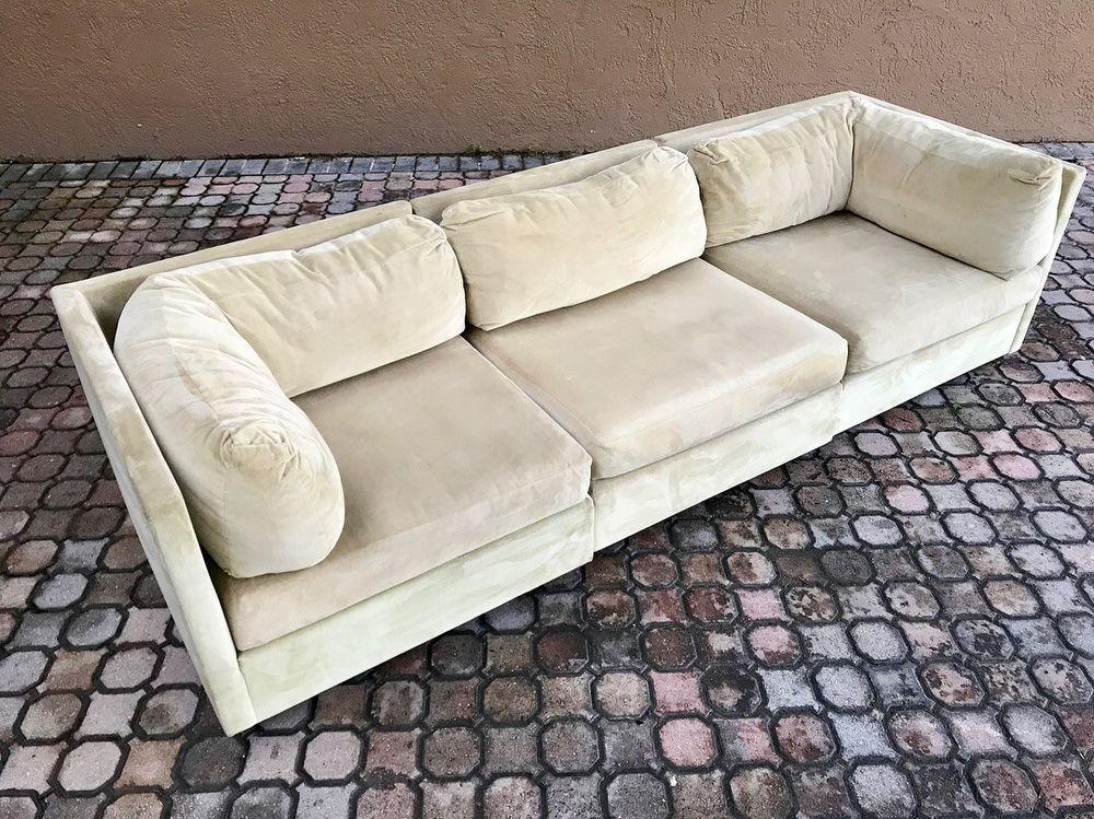 70 S Vintage 3pc Selig Modular Sectional Sofa Mid Century Modern