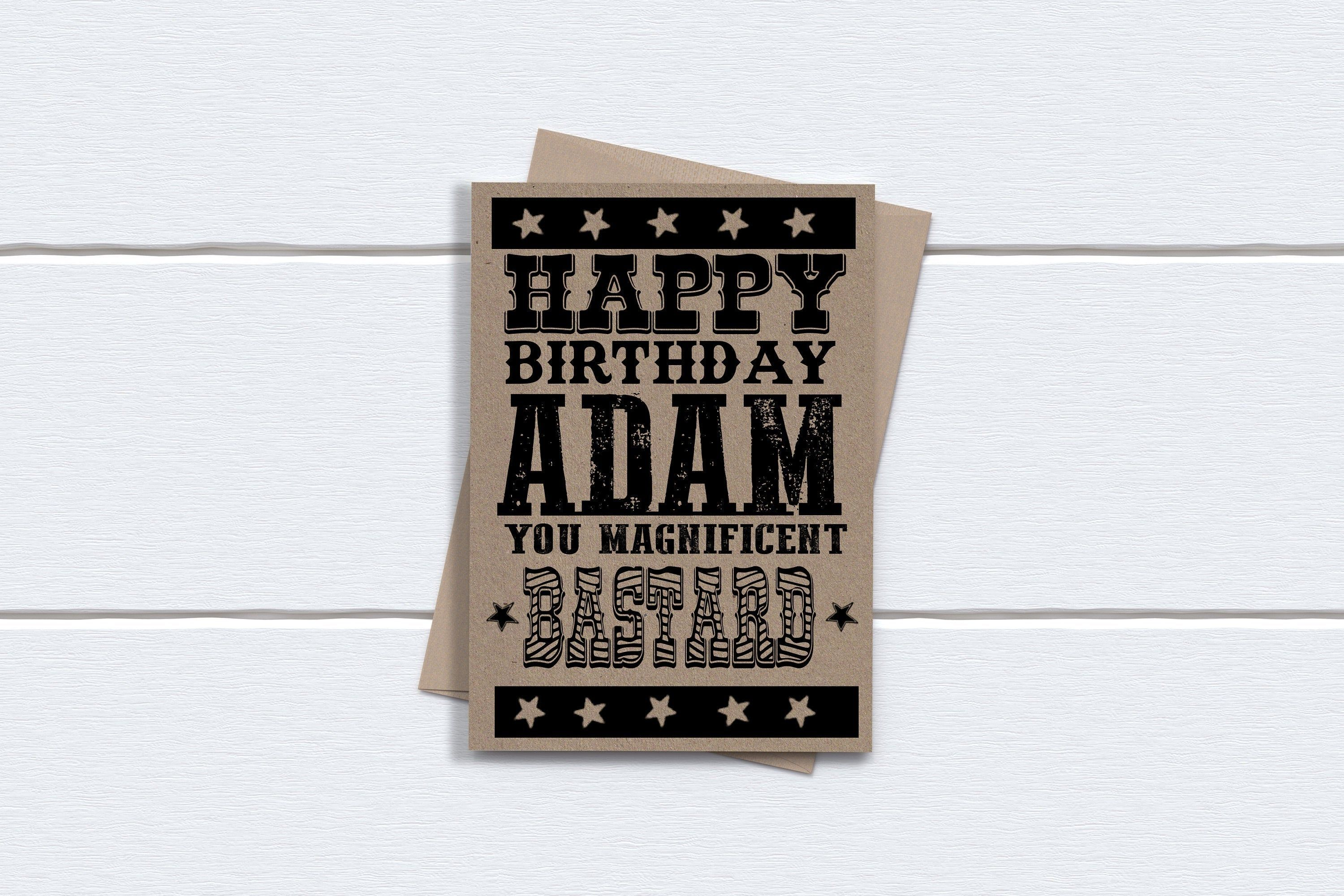 personalised birthday card for brother him boyfriend