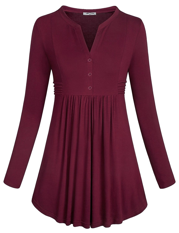 933e4559575 Women's Clothing, Tops & Tees, Tunics, Women's Long Sleeve Mandarin ...