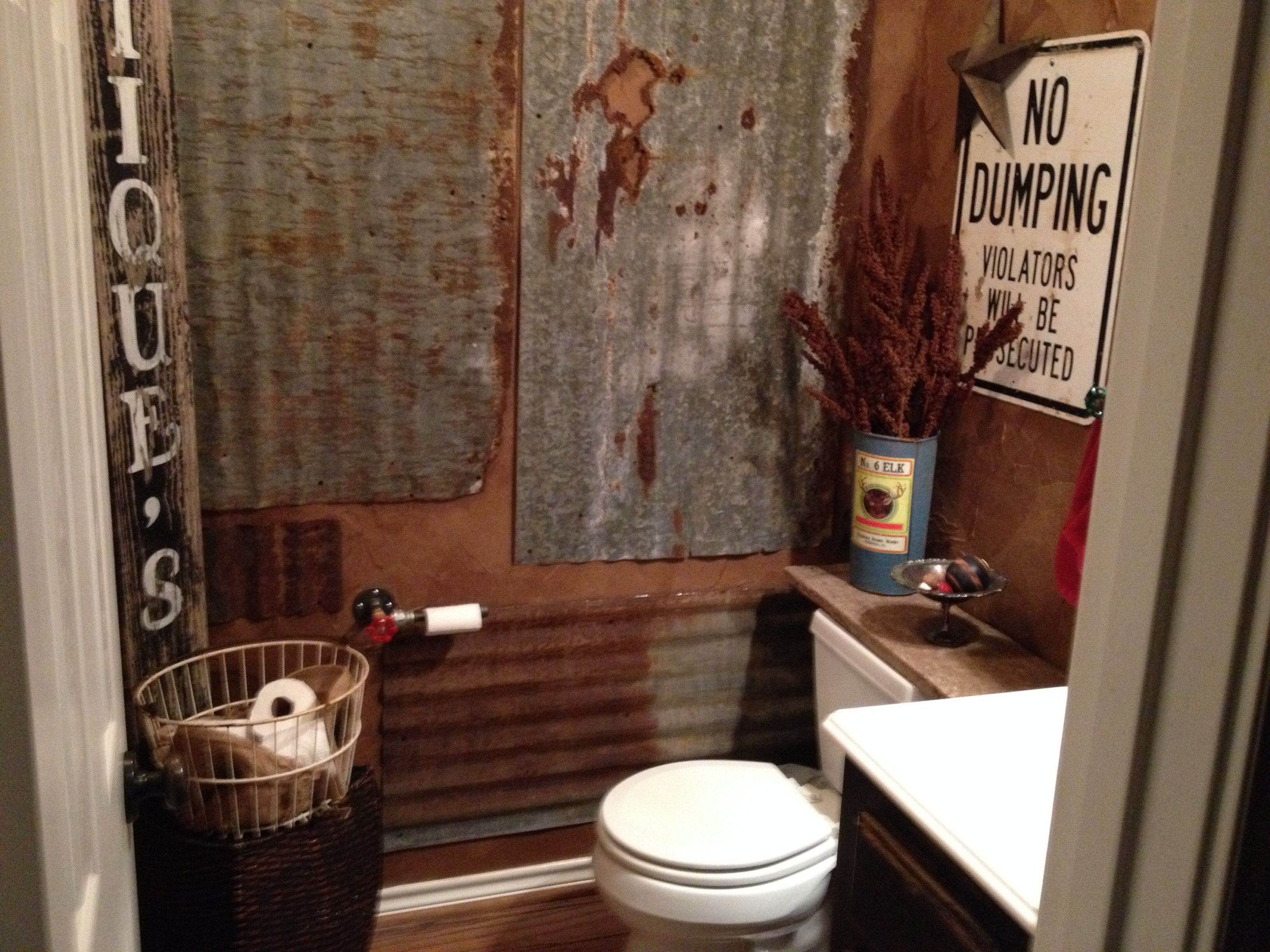rustic half bathroom ideas