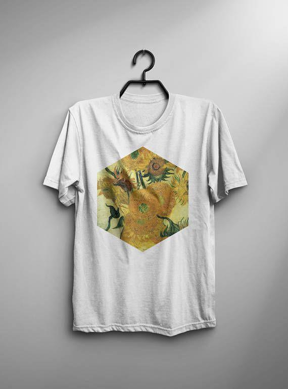 43901ef4203 Sunflowers Van Gogh Shirt Sunflowers T Shirt Fashion Van Gogh T-Shirt Man  Tee Art Painting T-Shirt Birthday Gift For Him Men Van Gogh Tshirt