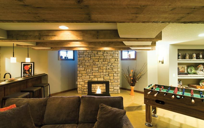 Great Room With Wet Bar And Game Area Basement Great Rooms