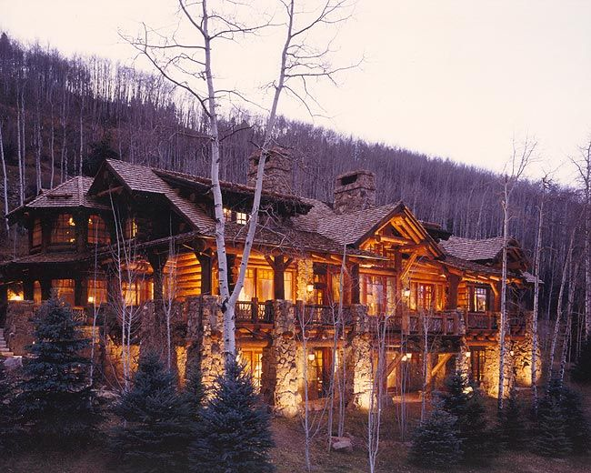 Custom Log Homes Traditional Saddle Notched Chinked Log Homes