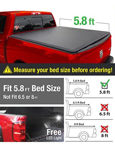 MaxMate Tri-Fold Truck Bed Tonneau Cover Works with 2009-2019 Dodge Ram 1500 2019 Classic ONLY | Without Ram Box Fleetside 5.7 Bed