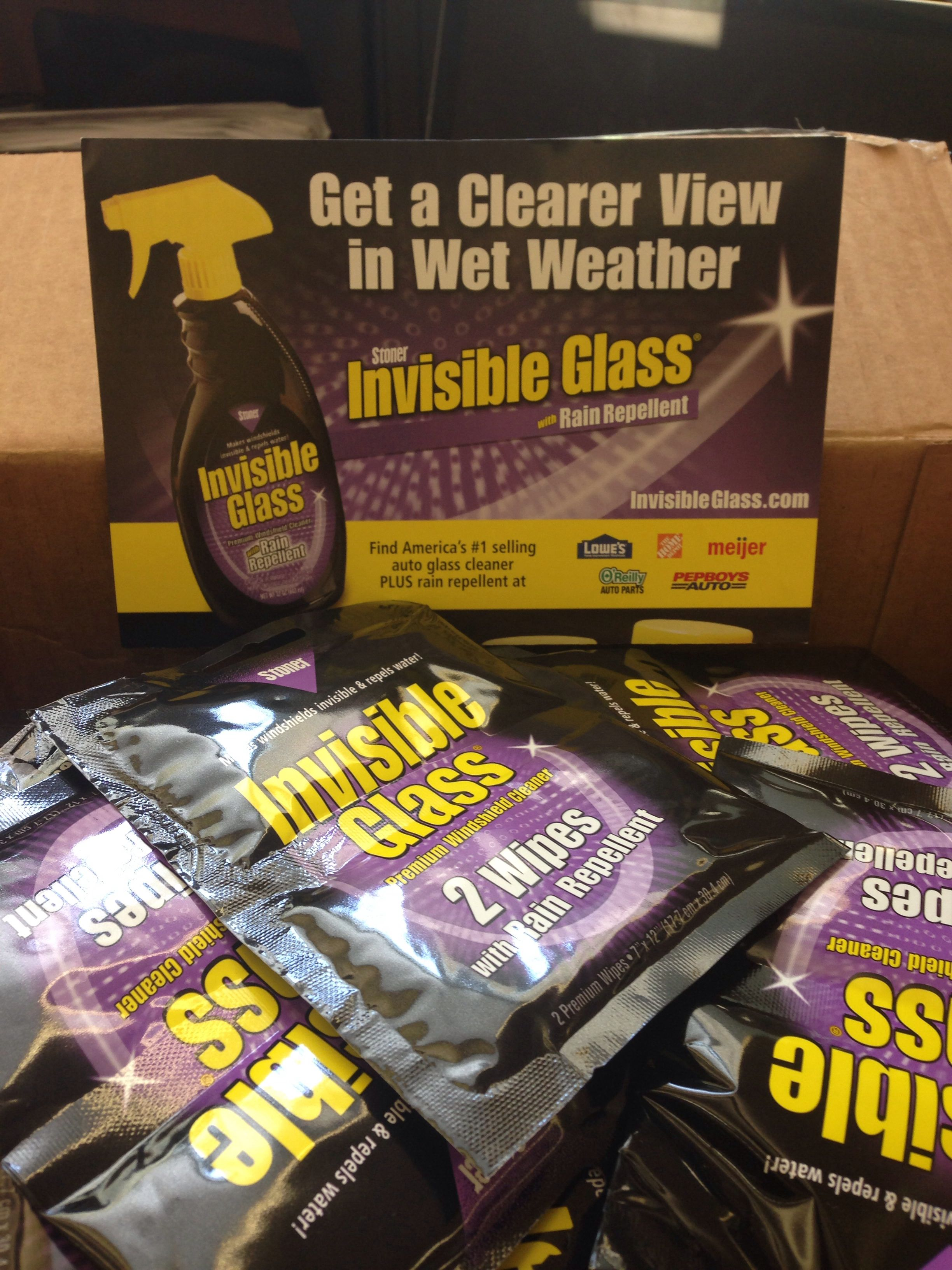 Glass Wipes And Info Cards For Our Goodie Bags Stonerinc Invisibleglass Cleaner Rain Repellant Thankyou Donation Carshow