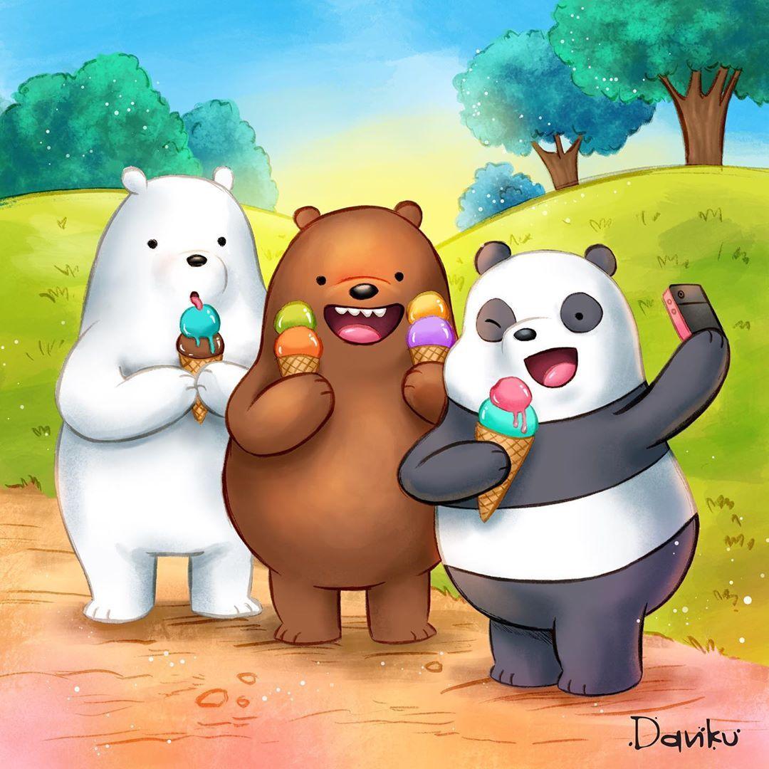 We Bare Bears I Love Them Fanart Webarebears Webarebearslovers Panda Icebear Grizzly Esca Pandas Animados Dibujos De Escandalosos Escandalosos