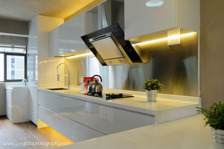 Open Kitchen Concept   Especially Like The Clean White Cut With The  Magnetic Board At The