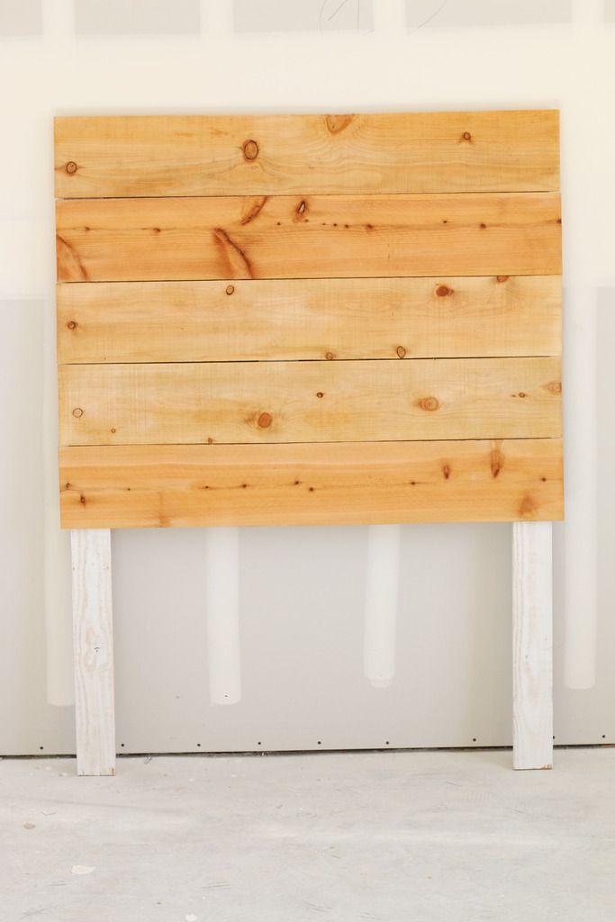 Easy Diy Wood Headboard Tutorial Simple And Modern Bedroom Diy Wood Headboard Headboard Diy Easy Simple Headboard