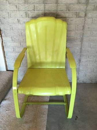 1939 Cleveland Welding Vintage Metal Lawn Chair Metal Lawn