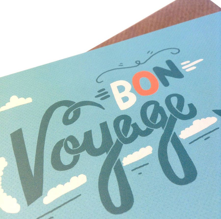 Bon voyage poster images 8th grade party ideas pinterest bon items similar to bon voyage illustrated greetings card hand lettering illustrated card typography on etsy kristyandbryce Image collections
