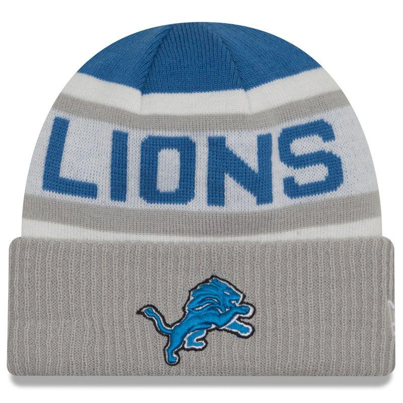 d364dde3 Detroit Lions New Era Biggest Fan 2.0 Cuffed Knit Hat - Blue/Gray ...