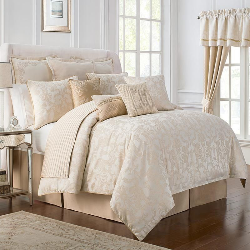 From The Waterford Bedding Collection The Britt Comforter Set Is