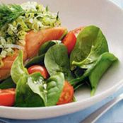 Recipes - Salmon with creamy leek and dill
