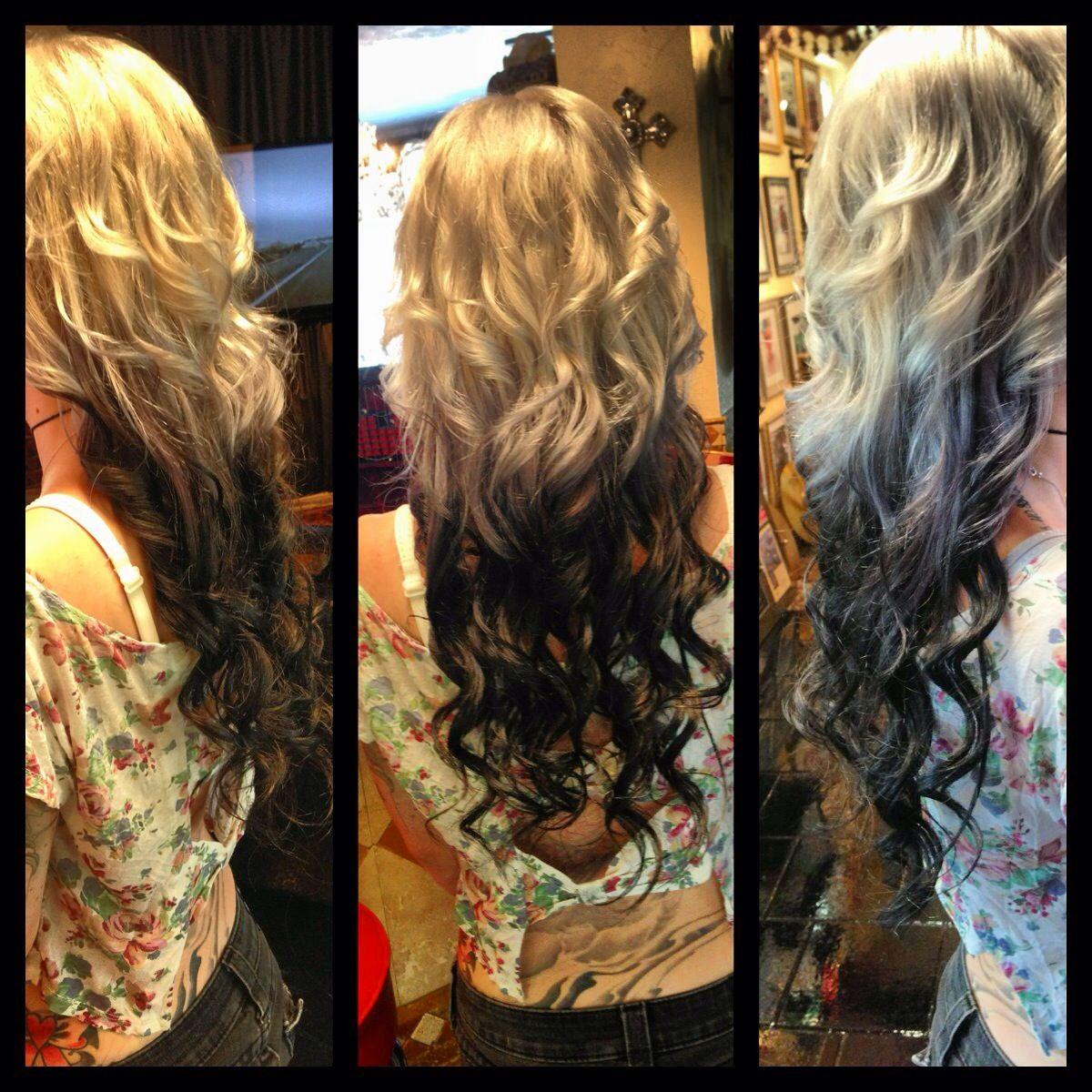 black platinum blonde