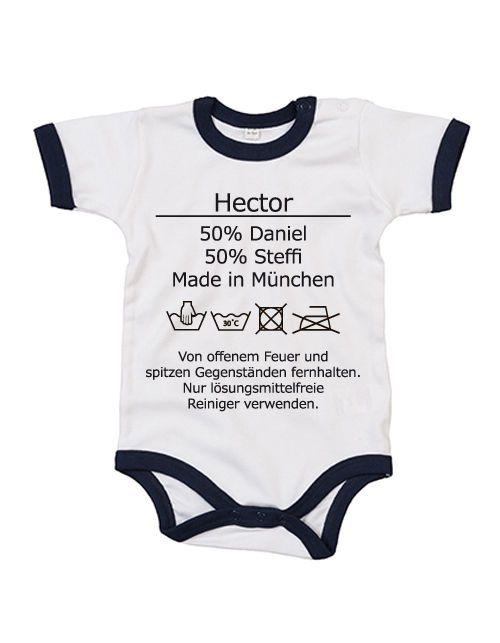 Strampler WASCHANLEITUNG + Babyname + Eltern + Ort - Taufe Geburt Geschenk Fun in Baby, Kleidung, Schuhe & Accessoires, Jungen | eBay! #babyshirts