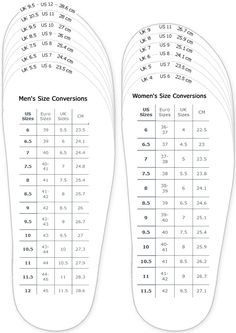 photo relating to Printable Brannock Device named sneakers sizing chart for printable grownup (adult men and girl