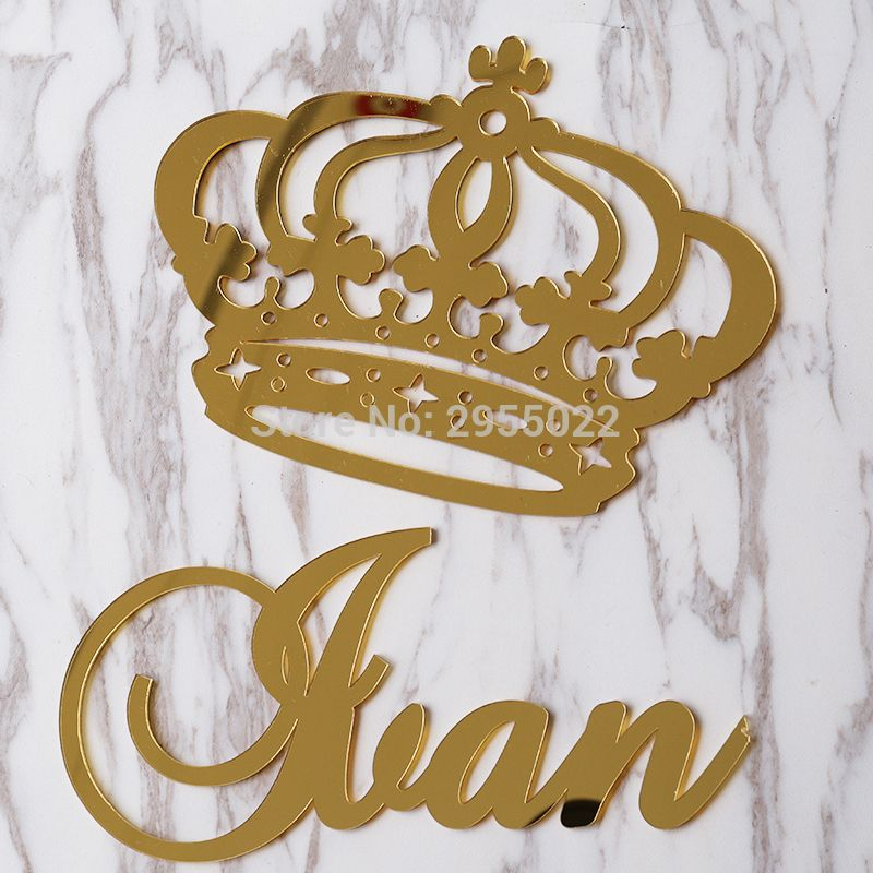 Cheap Personalizada espejo princesa Crown Wall colgando signo con ...
