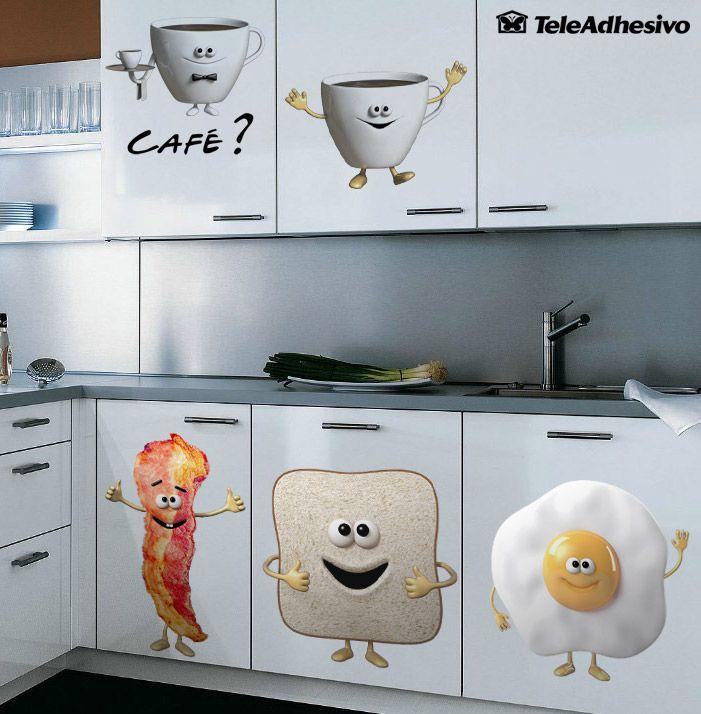 Vinilo infantil Cafe