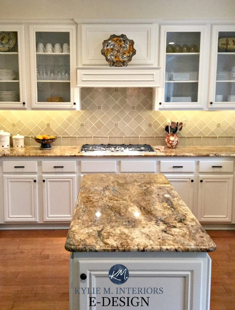 Edesign Painted Maple Cabinets A Gorgeous Off White Makeover Espresso Kitchen Cabinets Refacing Kitchen Cabinets Kitchen Cabinets And Granite