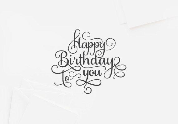 Letterpress Typography Birthday Card Design Pinterest