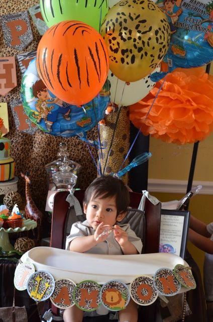 "Photo 8 of 23: Jungle, Safari, Animals / Birthday ""Noah's 1st Birthday!""   Catch My Party"