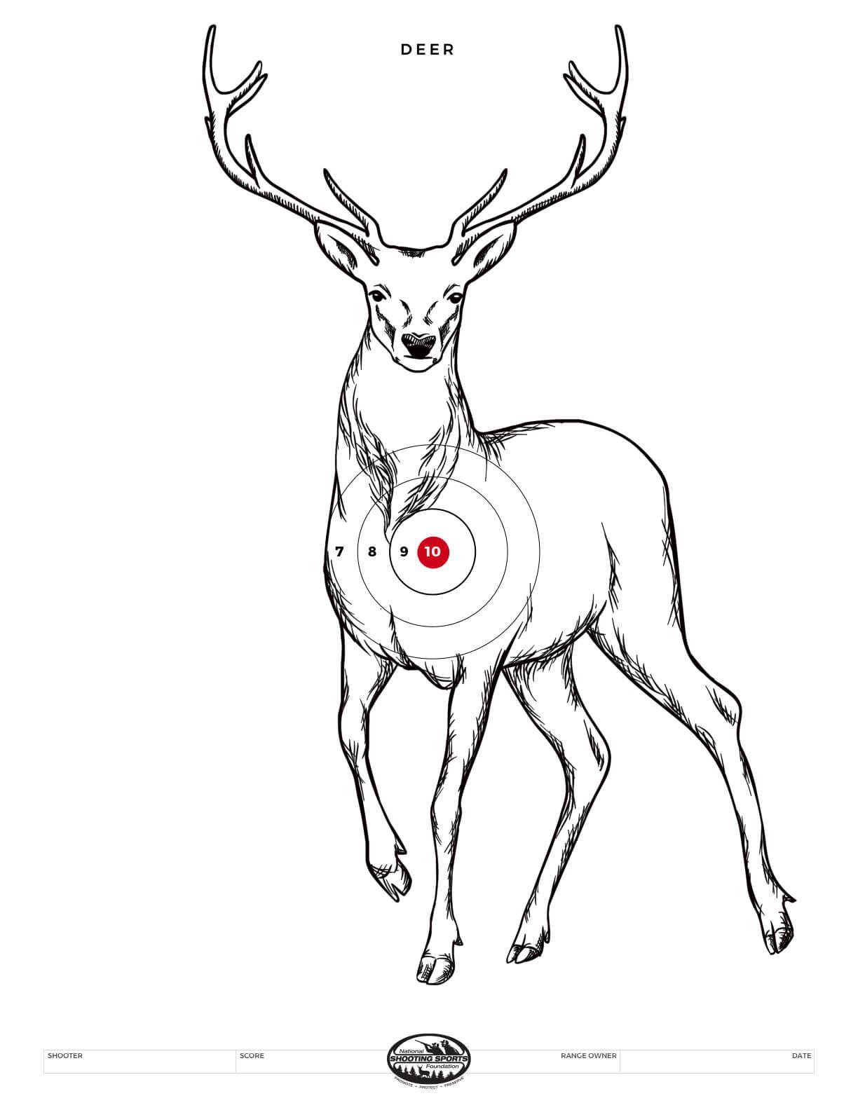 New Morrell Polypropylene Bedded Buck Target Face 28 x 42-Inch