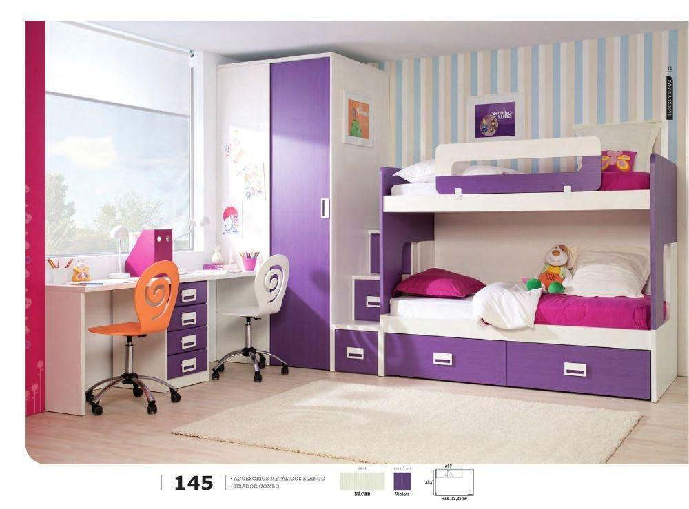 Dormitorio juvenil con literas buscar con google casa for Cuartos para ninas literas