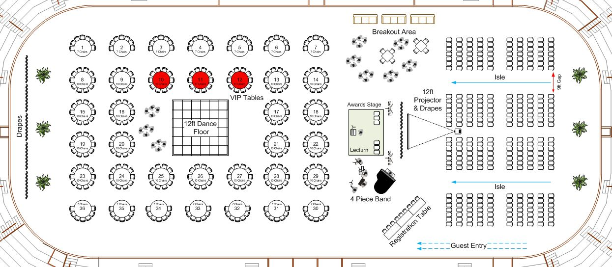 Pin by Visio Group / CADplanners on Event Floor Plans