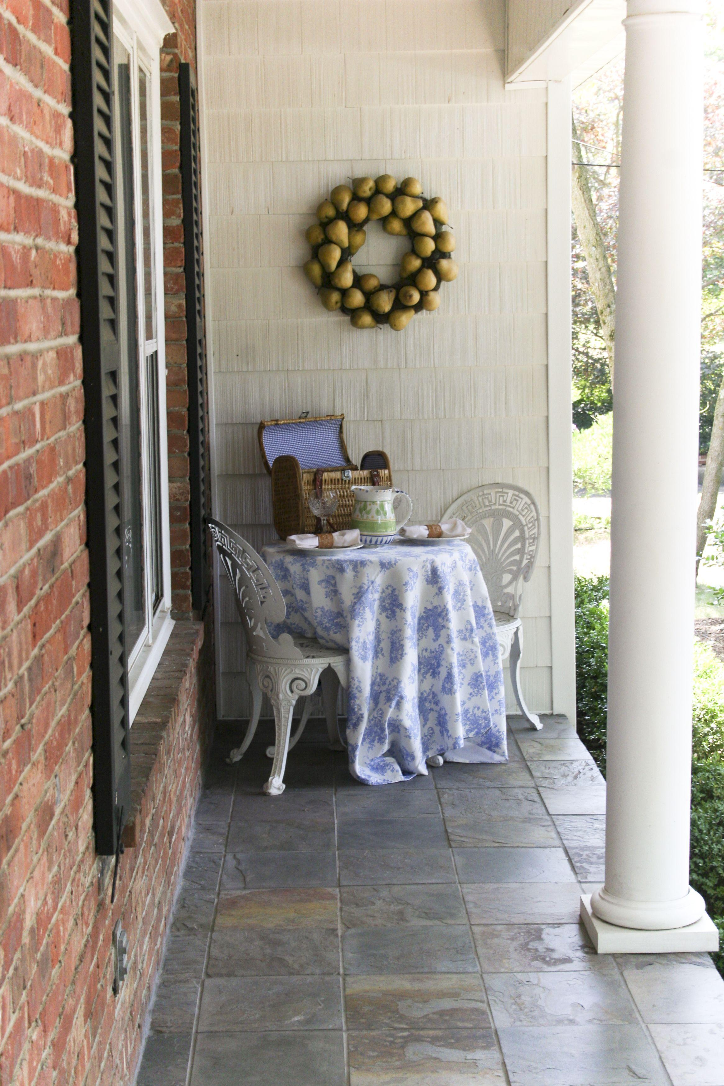 Slate Tile on front porch Porch tile, Porch flooring