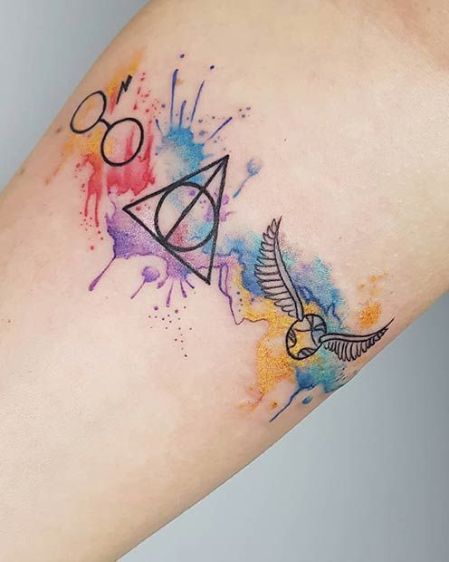47 Cool And Magical Harry Potter Inspired Tattoos Page 4 Of 5 Stayglam In 2020 Harry Potter Tattoos Tattoos Small Tattoos