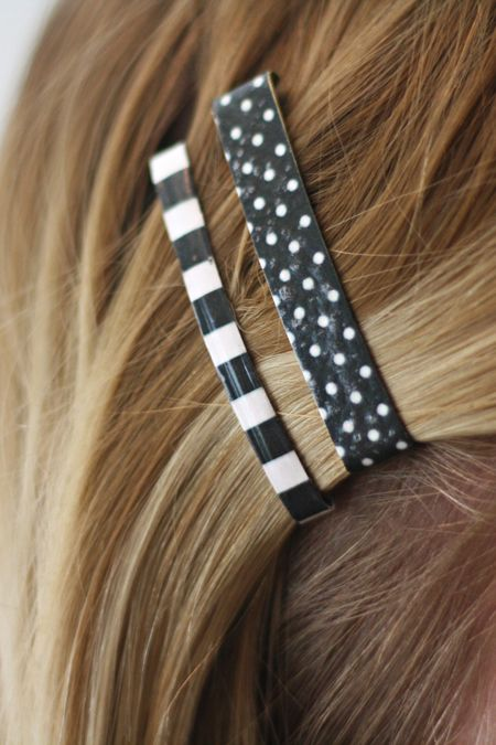 The Pretty Life Anonymous: PLA DIY: Patterned Hair Clips